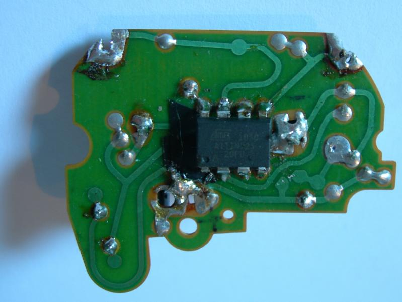 I replace this IC by ATtiny25 soldered on copper side.